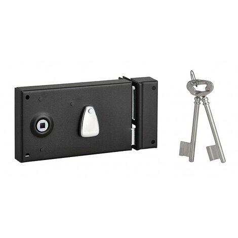 Thirard - Cerradura de superficie PDT 1/2 vuelta 140 x 82 mm derecha con 2 llaves niqueladas - 111