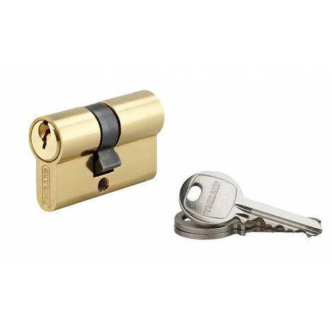 THIRARD - Cylindre 25 x 25 mm laitonné 3 clés