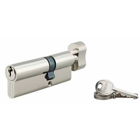 THIRARD - Cylindre à bouton 30 x 50 mm nickelé 3 clés