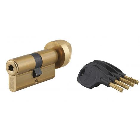 THIRARD - Cylindre de serrure à bouton Surveyor, 31x31mm, laiton, anti-arrachement, 4 clés