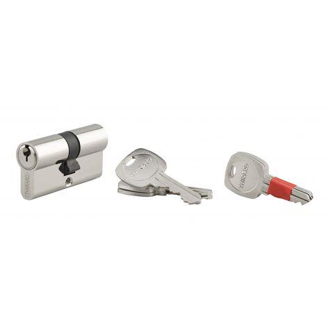 Thirard - Cylindre de serrure avec 5 goupilles standard modifiable à double entrée - 30 x 40 mm