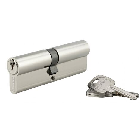 THIRARD - Cylindre de serrure double entrée, 45x50mm, anti-arrachement, nickel, 3 clés