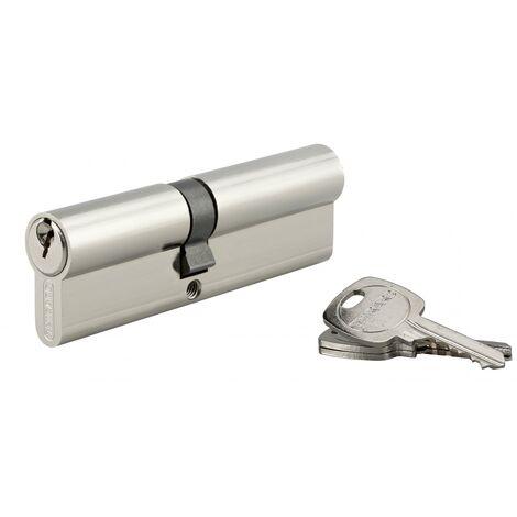 THIRARD - Cylindre de serrure double entrée, 45x55mm, anti-arrachement, nickel, 3 clés
