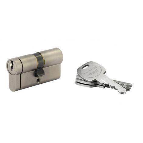 THIRARD - Cylindre de serrure double entrée HG5+, 30x30mm, nickel, anti-arrachement, anti-perçage, anti-casse, 5 clés