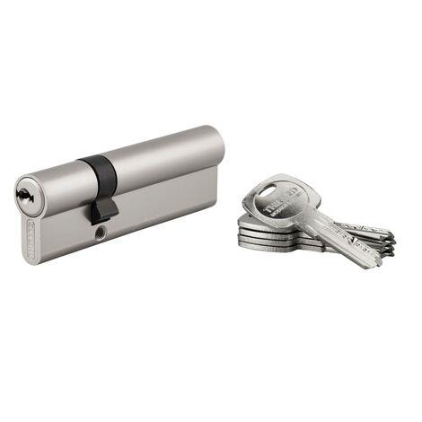 THIRARD - Cylindre de Serrure double entrée Trafic 6, 30x65mm, nickel, anti-arrachement, anti-perçage, 5 clés