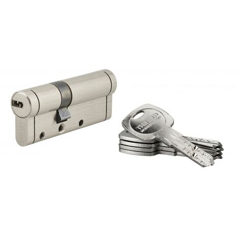 THIRARD - Cylindre de serrure Trafic 12, 30x50mm, nickel, anti-arrachement, anti-perçage, anti-casse, 5 clés