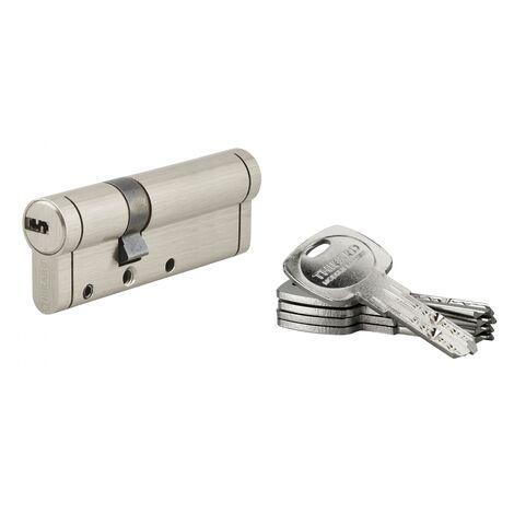THIRARD - Cylindre de serrure Trafic 12, 30x60mm, nickel, anti-arrachement, anti-perçage, anti-casse, 5 clés