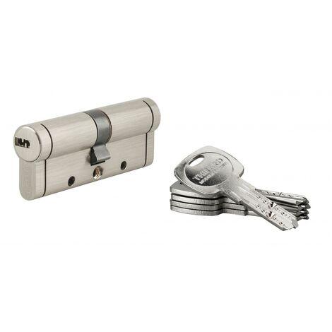 THIRARD - Cylindre de serrure Trafic 12, 40x40mm, nickel, anti-arrachement, anti-perçage, anti-casse, 5 clés