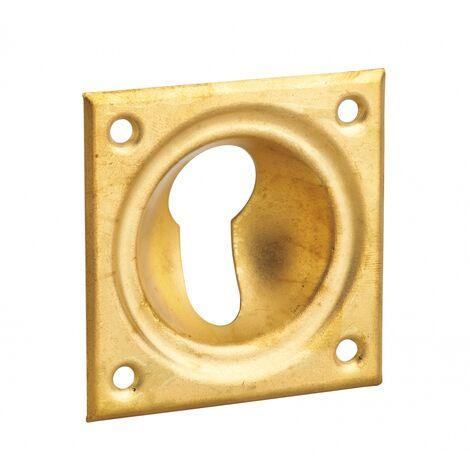 THIRARD - Entrée à cuvette trou de cylindre, 60x60mm, laiton