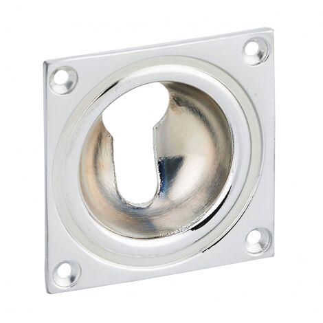 THIRARD - Entrée à cuvette trou de cylindre, 60x60mm, laiton chromé