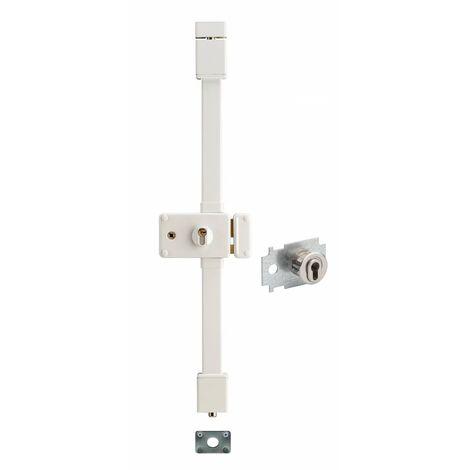 THIRARD - horga blanche cp transit 2 à fouillot 88 x 140 mm droite 4 clés pour porte de 50 mm maxi