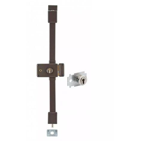 THIRARD - horga marron cp transit 2 à fouillot 88 x 140 mm droite 4 clés pour porte de 45 mm maxi