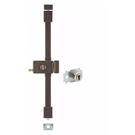 THIRARD - horga marron cp transit 2 à tirage 88 x 140 mm droite 4 clés pour porte de 45 mm maxi