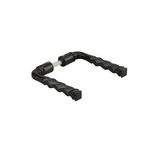 THIRARD - Paire de béquilles fil torsadé pour porte, carré 6x100mm, 1 portée, noir