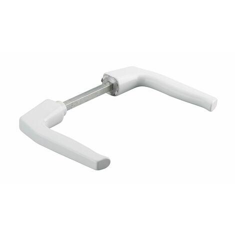 THIRARD - Paire de béquilles pour porte, carré 7x100mm, 1 portée, blanc