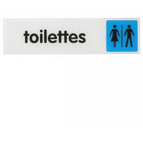 "main image of ""THIRARD - Plaque signalétique 170x45mm toilettes avec adhésif"""