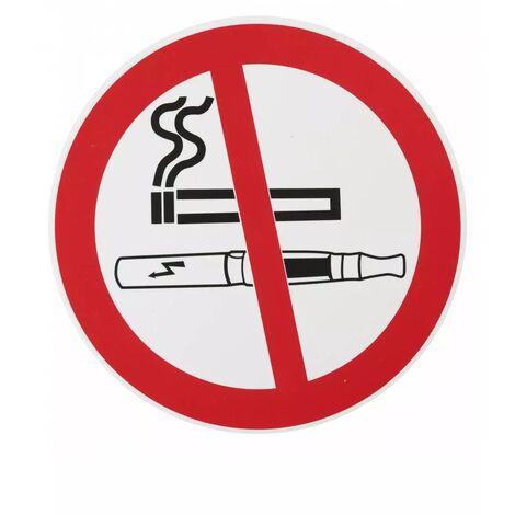 THIRARD - Plaque signalétique Ø 180mm interdiction de fumer avec adhésif