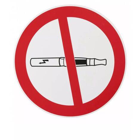 THIRARD - Plaque signalétique Ø 180mm interdiction de vapoter avec adhésif