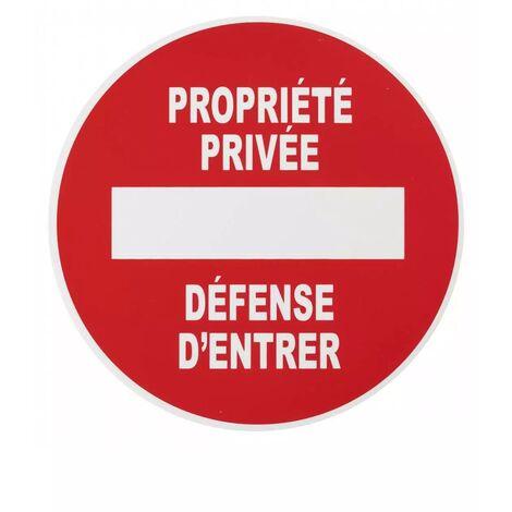 THIRARD - Plaque signalétique Ø 180mm propriété privée avec adhésif