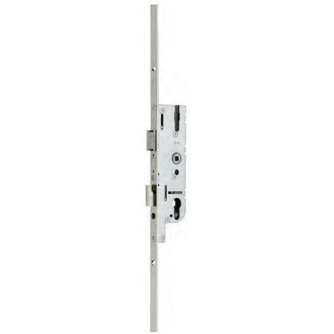 Thirard - Serrure 3 points EUROPA axe 40 mm à encastrer fouillot carré 7 mm têtière 16 mm poignée 1045 mm