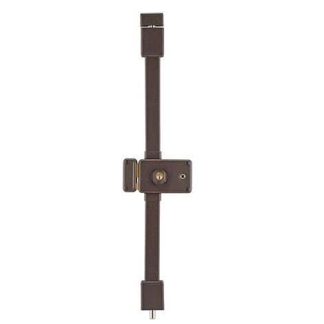 THIRARD - Serrure en applique Horga à fouillot pour porte d'entrée, gauche, 3 pts, cylindre HG5 Ø23mm, axe 70mm, marron, 4 clés