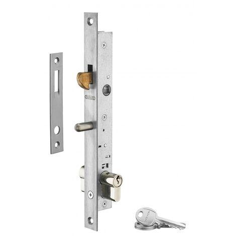 THIRARD - Serrure encastrable à crochet à cylindre, axe 16mm, bouts carrés, cylindre 30x30mm, zingué, 3 clés