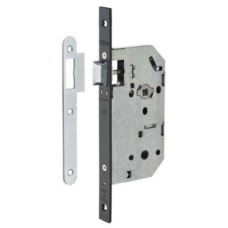 THIRARD - Serrure encastrable Monomax NF pour porte intérieure, axe 50mm, bouts carrés, têtière noire