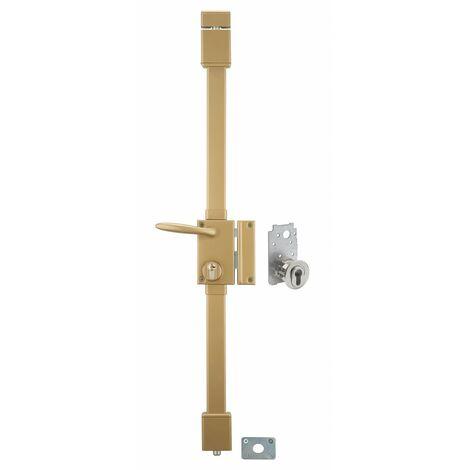 THIRARD - targa bronze cp transit 2 porte ép.50 à fouillot 75 x 130 mm droite 4 clés