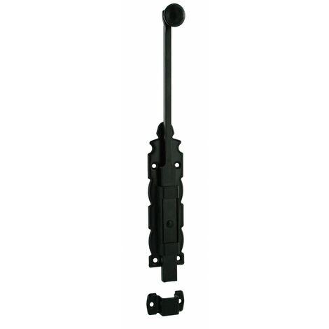 THIRARD - Verrou à plaquer coulissant pour porte intérieure, 305mm, noir