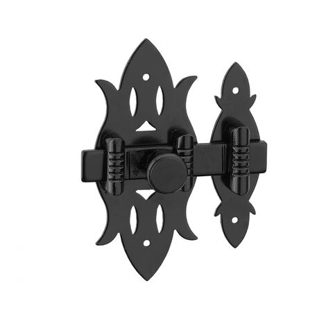 Thirard - Verrou de meuble rustique fer noir 40 x 90 mm