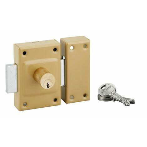 THIRARD - Verrou double entrée Etendard pour porte d'entrée, cylindre 40mm, acier, 3 clés, époxy bronze