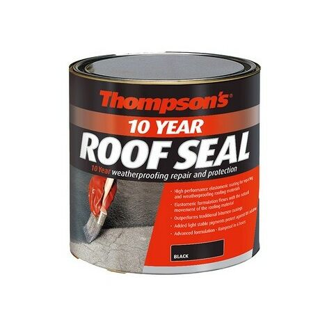 Ronseal 30144 Thompsons High Performance Roof Seal Black 2.5 Litre
