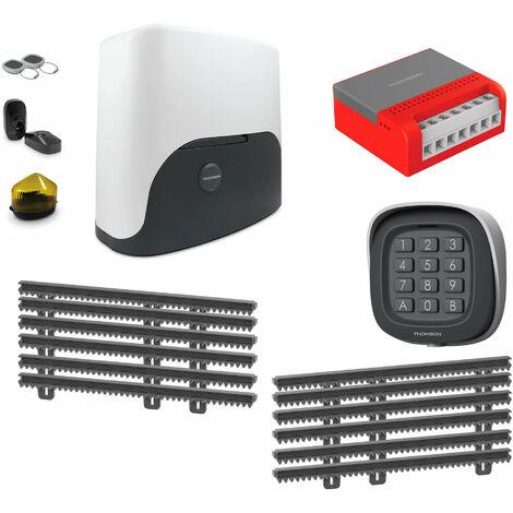 Thomson Kit Motorisation Pour Portail Coulissant - 1 motorisation Thomson + 1 kit de crémaillère de 6 mètres + 1 kit wifi connecté + 1 digicode sans fil