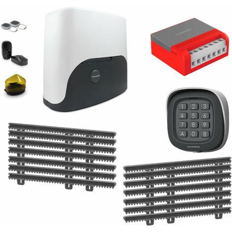 Thomson Kit Motorisation Pour Portail Coulissant - 1 motorisation Thomson + 1 kit de crémaillère de 7 mètres + 1 kit wifi connecté + 1 digicode sans fil