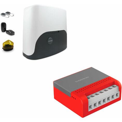 Thomson Kit Motorisation Pour Portail Coulissant - Motorisation + module wifi connecté smartphone