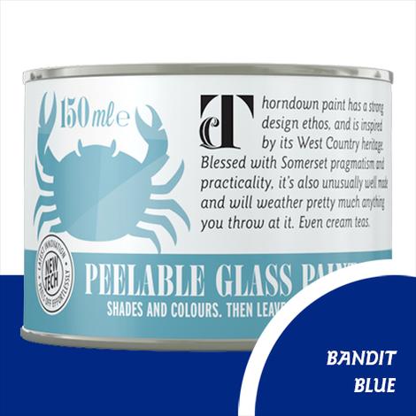 Thorndown Bandit Blue Peelable Glass Paint