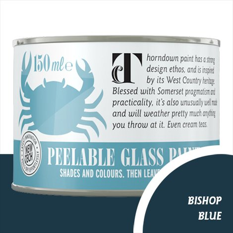 Thorndown Bishop Blue Peelable Glass Paint