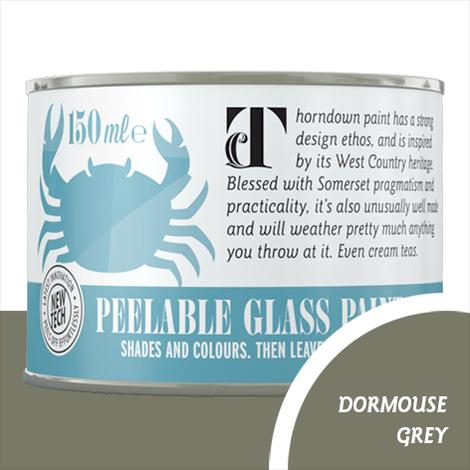Thorndown Dormouse Grey Peelable Glass Paint