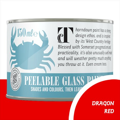 Thorndown Dragon Red Peelable Glass Paint