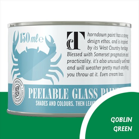 Thorndown Goblin Green Peelable Glass Paint