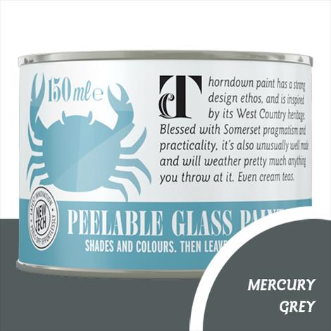 Thorndown Mercury Grey Peelable Glass Paint