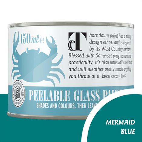 Thorndown Mermaid Blue Peelable Glass Paint