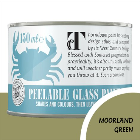 Thorndown Moorland Green Peelable Glass Paint