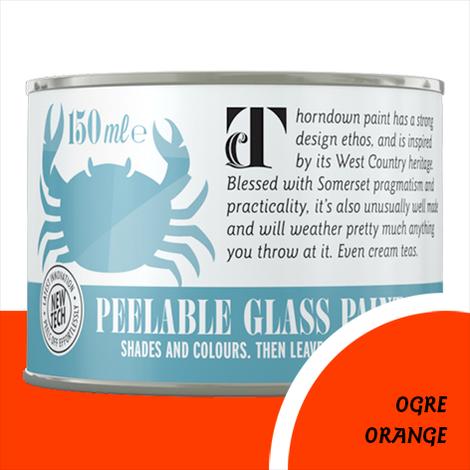 Thorndown Ogre Orange Peelable Glass Paint