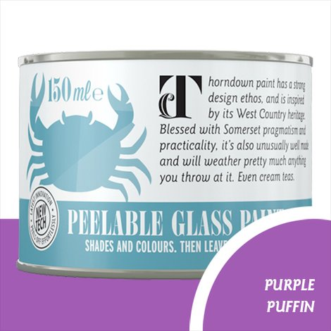 Thorndown Purple Puffin Peelable Glass Paint
