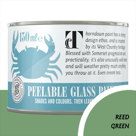 Thorndown Reed Green Peelable Glass Paint