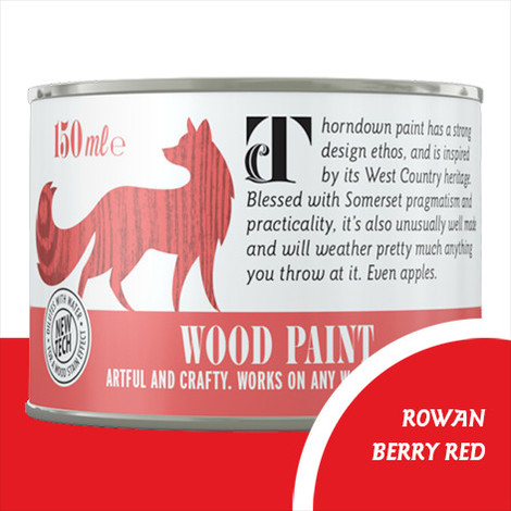 Thorndown Rowan Berry Red Wood Paint
