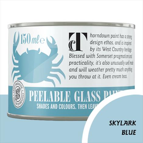 Thorndown Skylark Blue Peelable Glass Paint