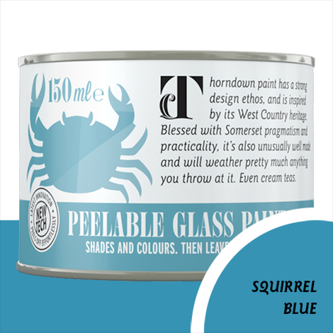 Thorndown Squirrel Blue Peelable Glass Paint