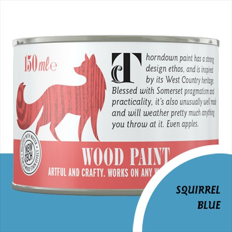 Thorndown Squirrel Blue Wood Paint